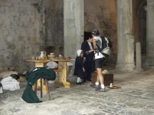 Rievocazione storica presso la cattedrale di Colla Micheri